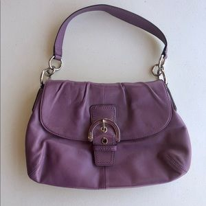 Coach purple soho hobo flap shoulder bag
